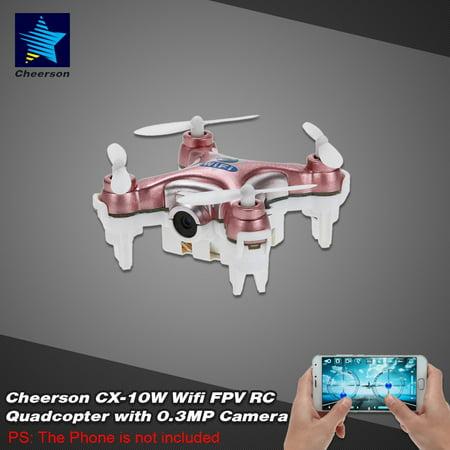 Original Cheerson CX-10W 4CH 6-Axis Gyro Wifi FPV RTF Mini RC Quadcopter with 0.3MP (Best Cheerson Rc Quadcopters)