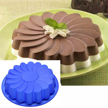 Mosunx Silicone Large Flower Cake Mould Chocolate Soap Candy Jelly Mold Baking