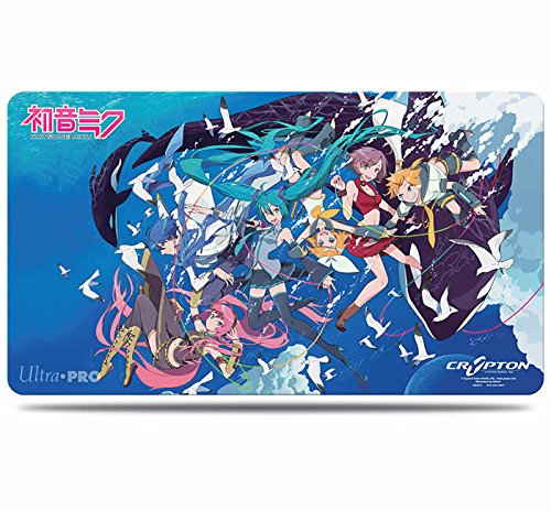 Ultra Pro Hatsune Miku Ocean Play Mat, Small, Black/White