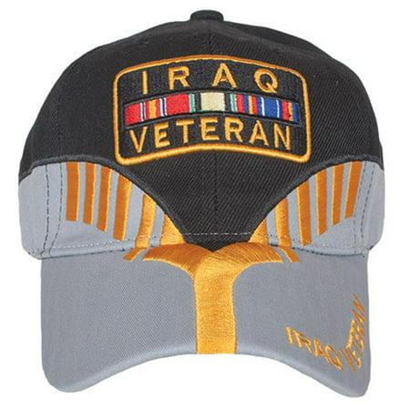 Embroidered Ball Cap Black/Grey Heritage - Iraq Vetera - Outdoor (Heritage Ball)