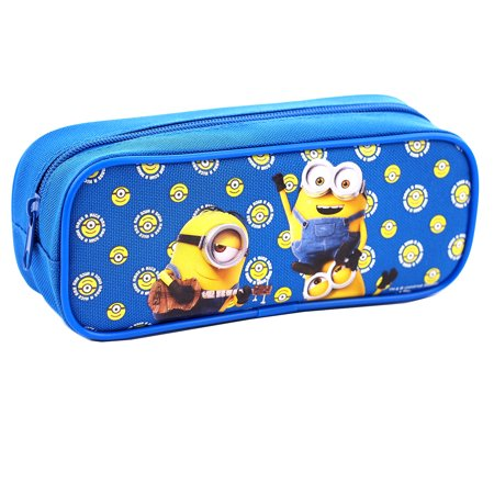 Despicable Me Minions Character Single Zipper Blue Pencil Case - Minions Character Names