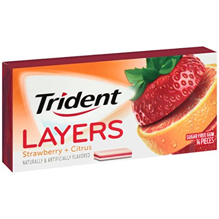 Trident Layers Sugar Free Gum, Wild Strawberry & Tangy Citrus (Sugar Free Strawberry Gum)