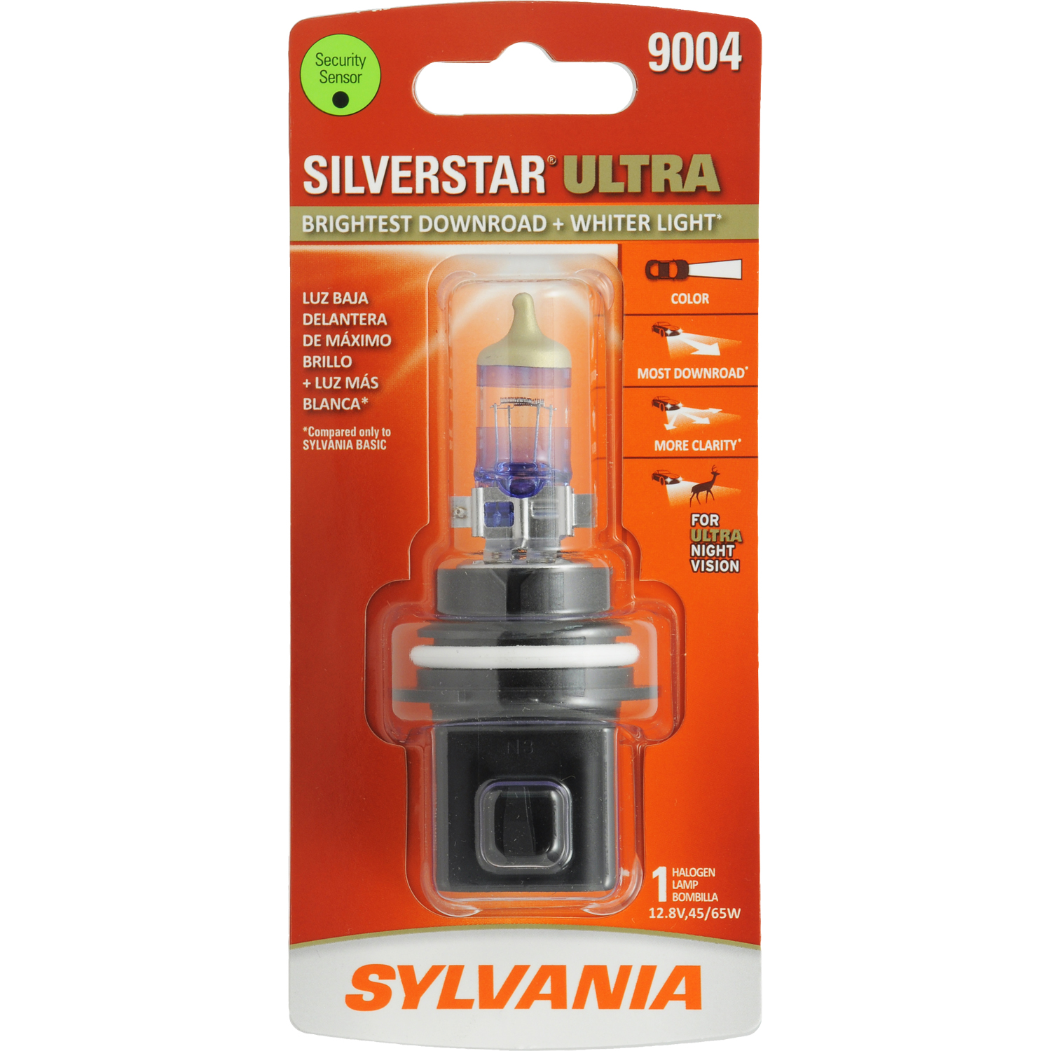 SYLVANIA 9004 SilverStar ULTRA Halogen Headlight Bulb, Pack of 1