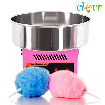 - Clevr Commercial Cotton Candy Machine Carnival Party Candy Floss Maker, Pink