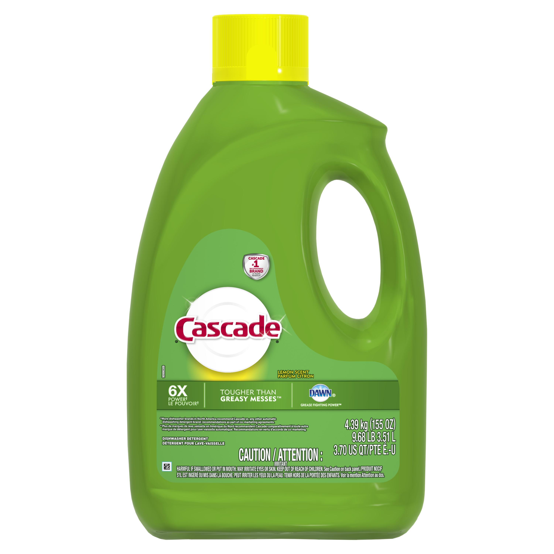 Cascade Gel Dishwasher Detergent, Lemon Scent, 120 ounces