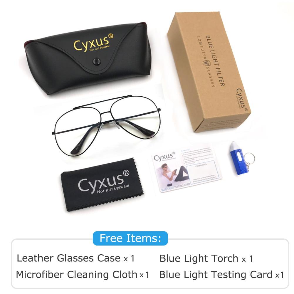 12e5a49307e3 Cyxus Metal Aviator-Pilot Blue Light Filter Computer Glasses for Anti Eye  Fatigue, Gunmetal Frame Men/Women Eyewear - Walmart.com