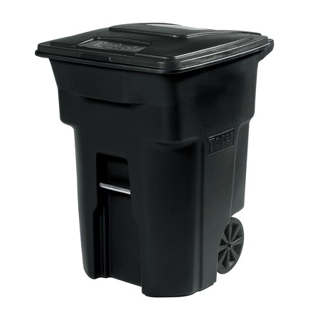 Toter 32 Gal. Trash Can Black with Wheels and Lid