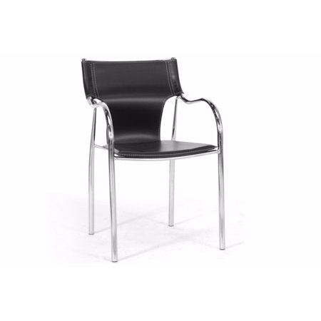 Baxton Studio Harris Black Modern Dining Chair Set Of 2 Walmart Com