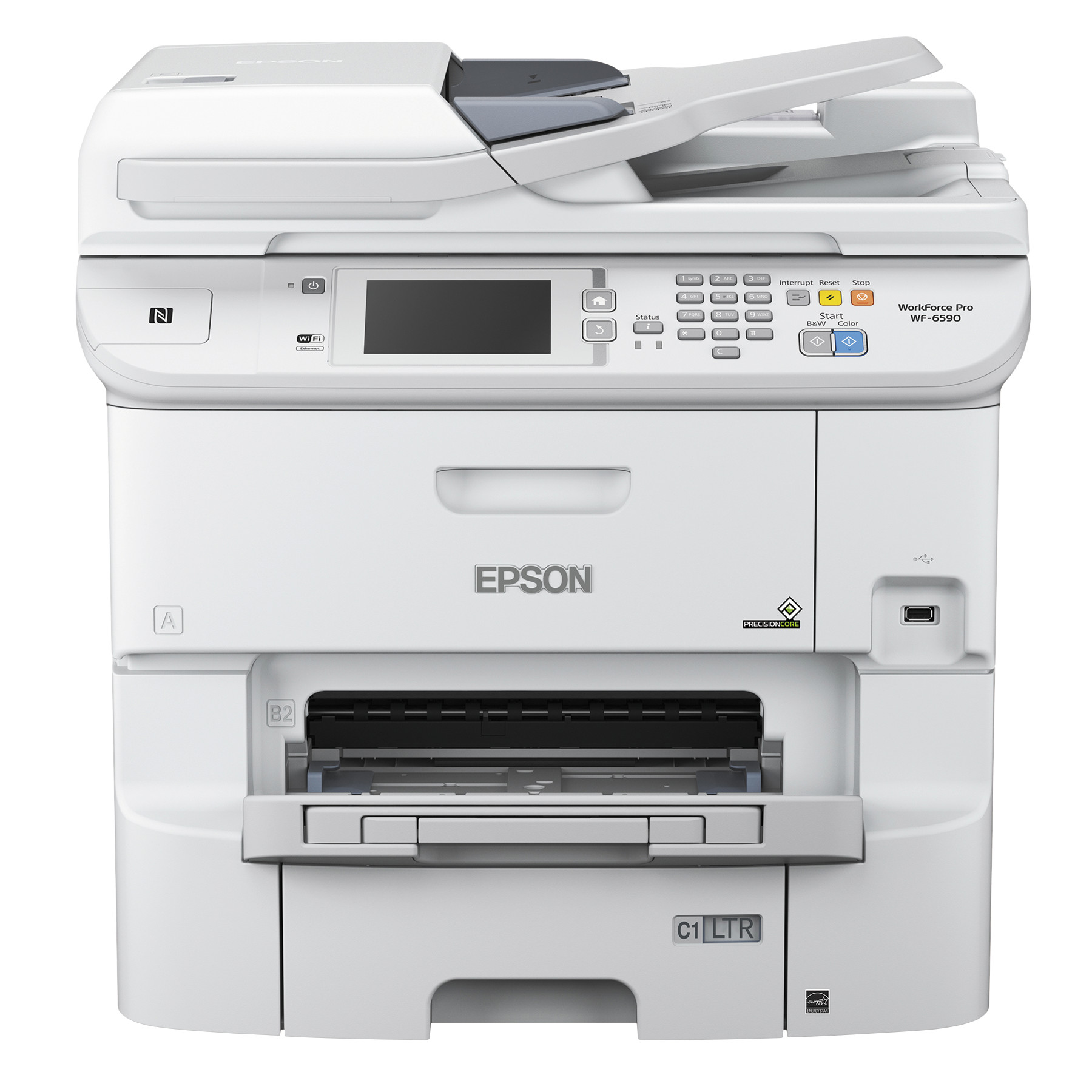 Epson WorkForce Pro WF-6590 Wireless Multifunction Color Printer, Copy/Fax/Print/Scan