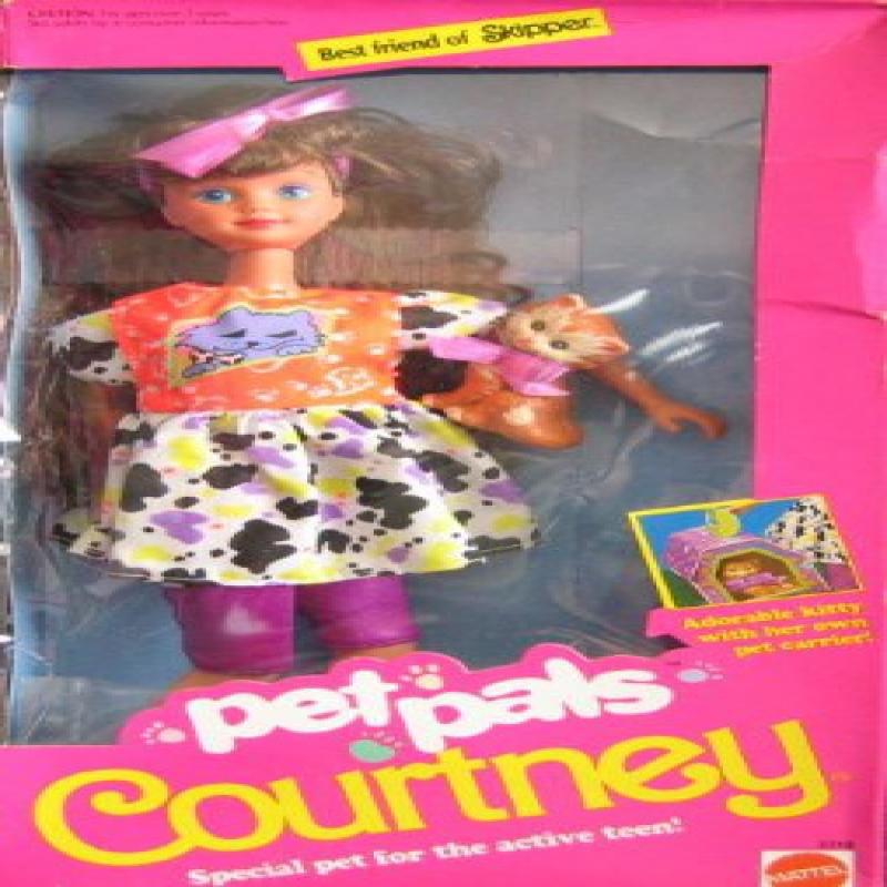 Mattel Barbie Pet Pals Courtney Doll w Kitty & Accessorie...