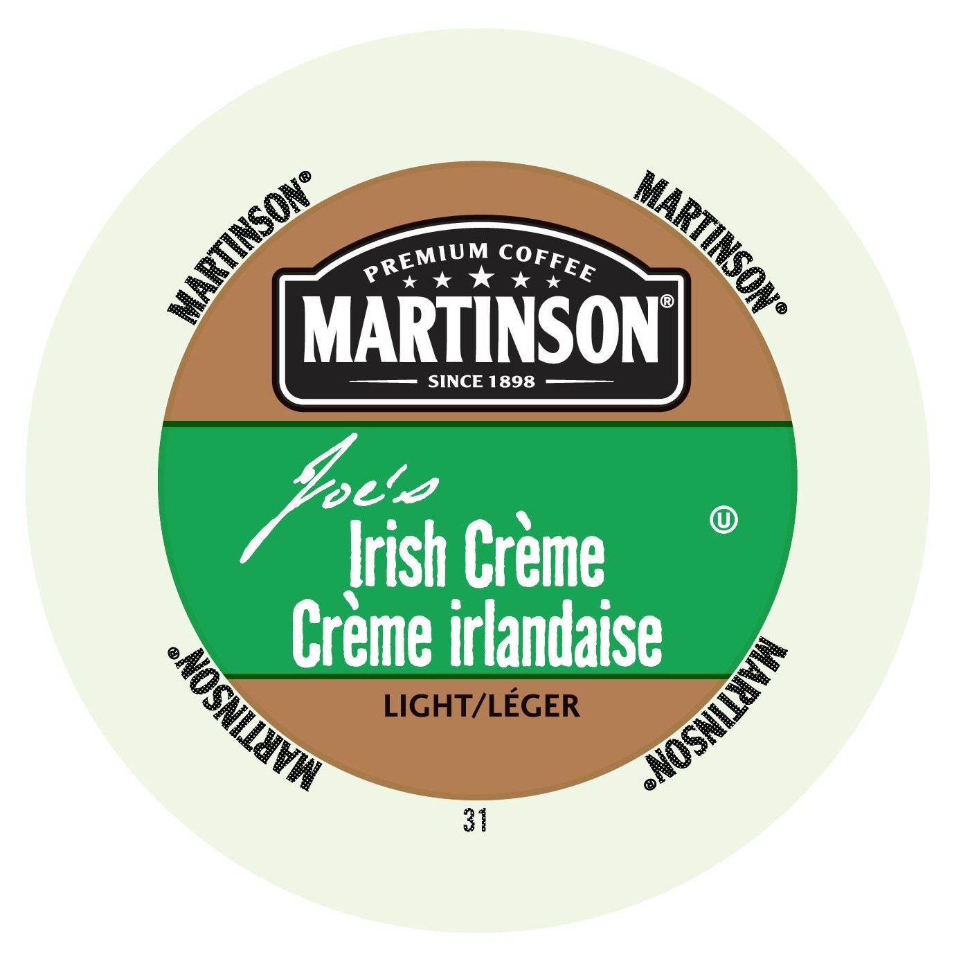 Martinson Coffee Irish Crème, RealCup Portion Pack for Keurig K-Cup Brewers, 24 Count