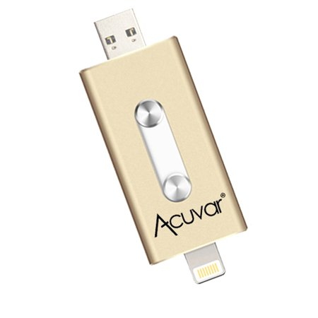 Acuvar 64GB Portable USB Flash Drive for all iPhone, iPad iOS Devices and all