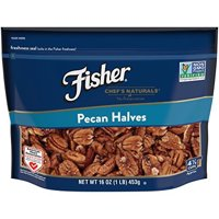 FISHER Chef's Naturals Pecan Halves, No Preservatives, Non-GMO, 16 oz
