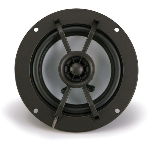 "Kicker KM4 4"" Marine Coaxial Speakers with 1/2"" Tweeters, Charcoal and White, 4-Ohm"