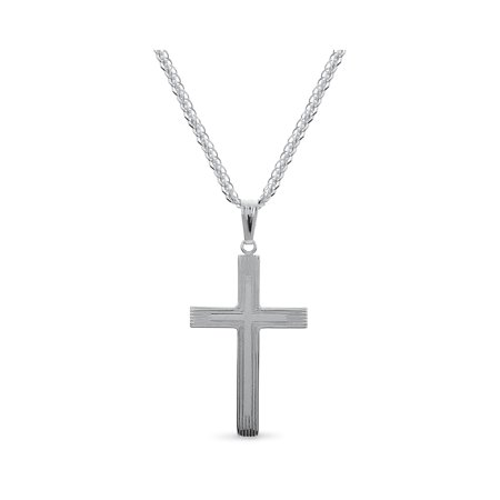 Sterling Silver Cross Pendant 24
