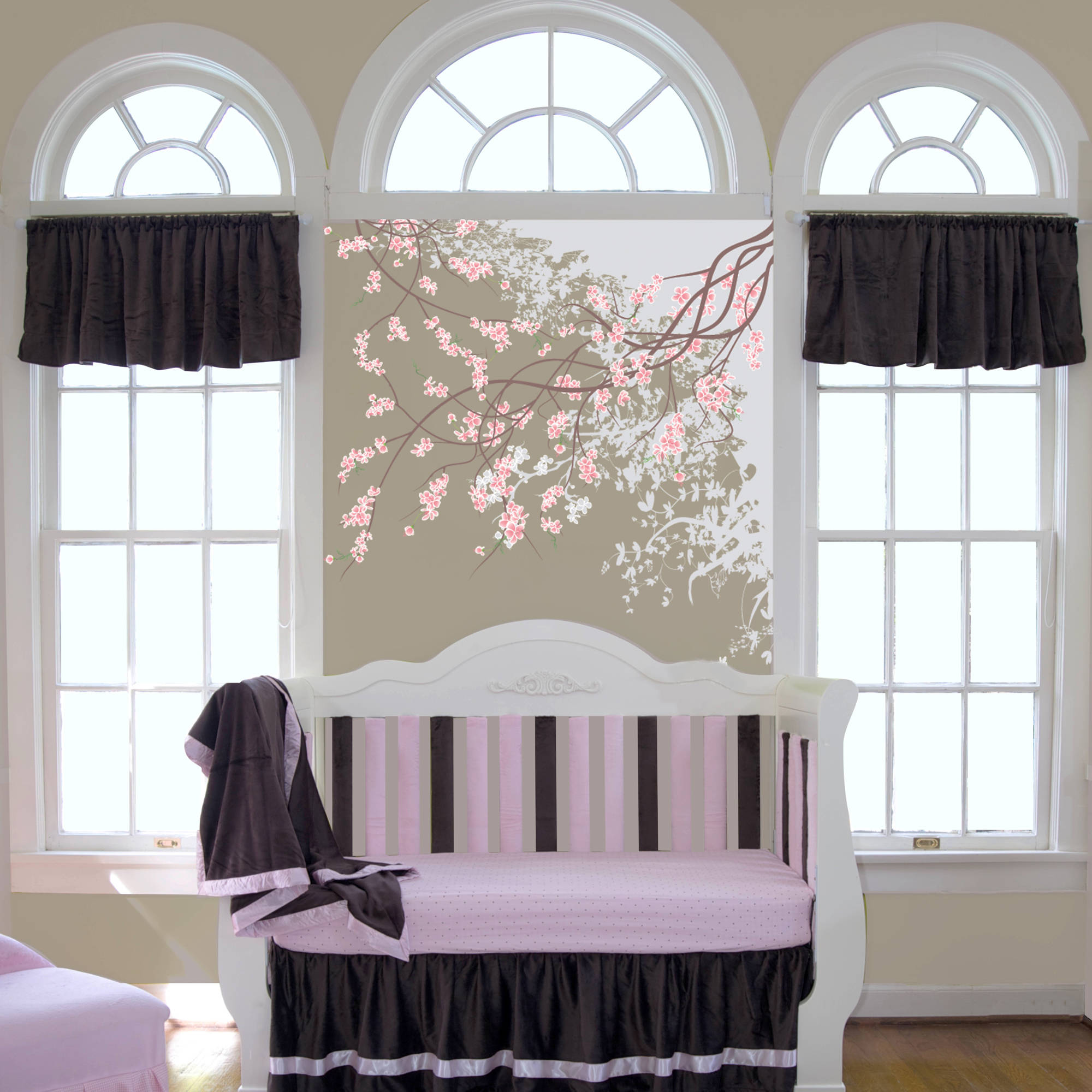 "Go Mama Go Designs Luxurious Chocolate Minky 54"" x 16"" Valance by Go Mama Go Designs"