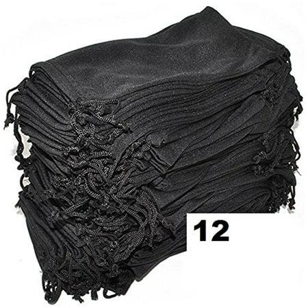 Cloth Bags Wholesale (Wholesale Eyewear Eyeglass Sunglasses Microfiber Soft Cloth Cleaning Black Case Pouch Bag 12, 24, 100, 1200 & 2400 PCS)