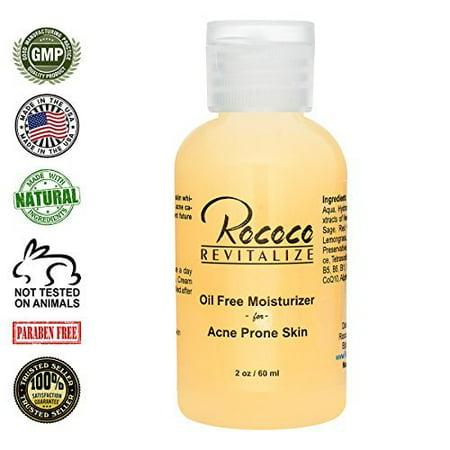 All Natural Oil Free Moisturizer For Acne Prone Skin   2Oz