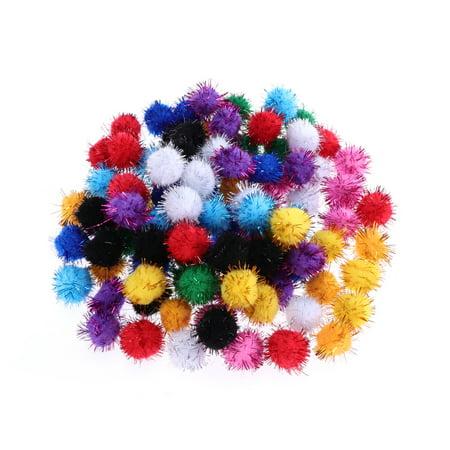 100pcs 20mm Cat Toys Assorted Pom Poms Fluffy Balls for DIY Creative Crafts Decorations (Mix Color)](Pom Pom Rug Diy)