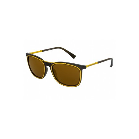Versace VE4335 VE/4335 5256F9 Matte Transparent Green/Yellow Sunglasses (Versace Yellow Sunglasses)
