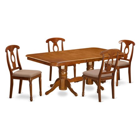 East West Furniture Kenley 5 Piece Rectangular Trestle Dining Table Set