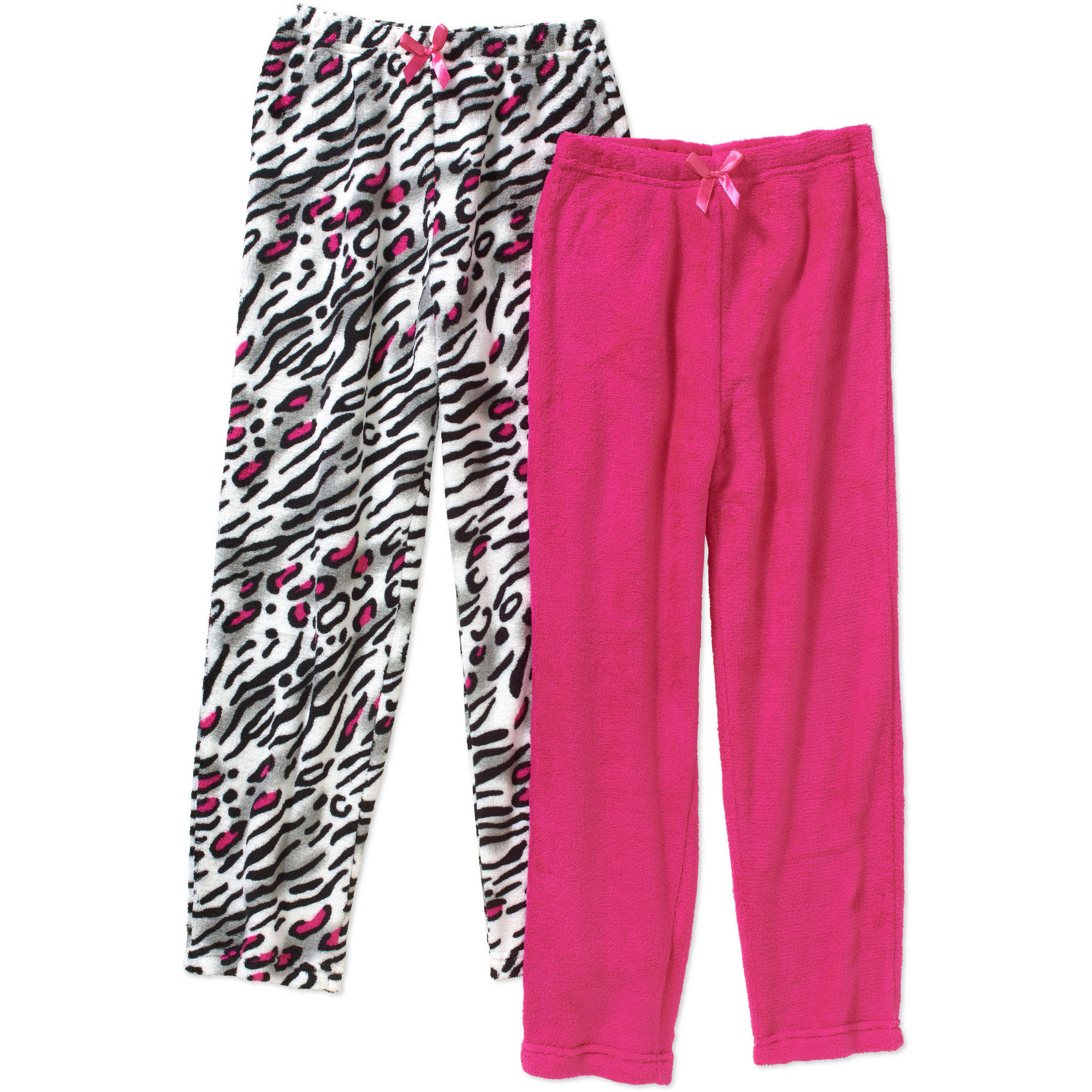 Chili Peppers Girls' Coral Fleece 2 Pack Sleep Pants