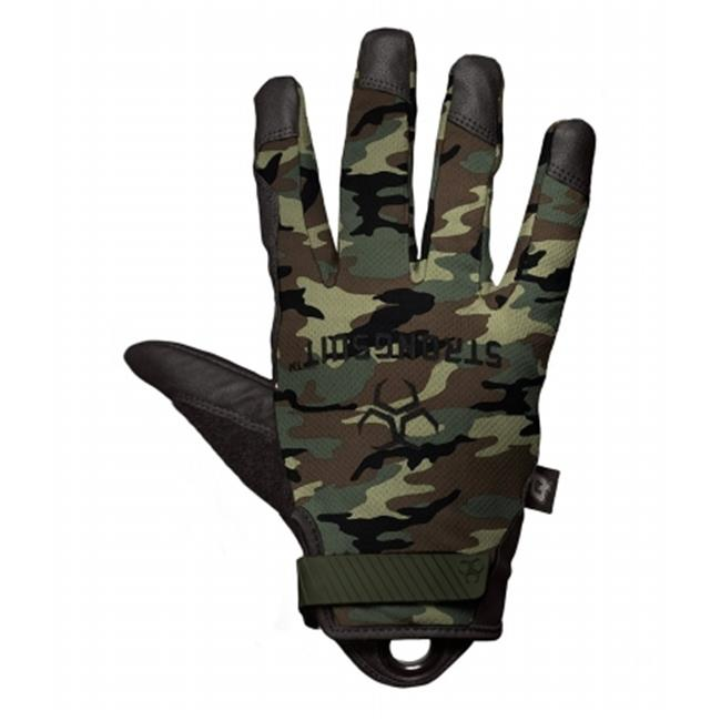 StrongSuit 41300-XS Q Series Enforcer Tactile Tactical Gloves - Camo, Extra Small
