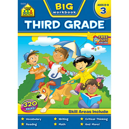 BIG Third Grade Workbook - 3rd Grade Level Halloween Books