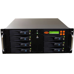 SySTOR 1:6 SATA Hard Disk Drive (HDD SSD) Rackmount Duplicator Sanitizer High Speed(150mb sec) (SYS206RMHDD) by Systor