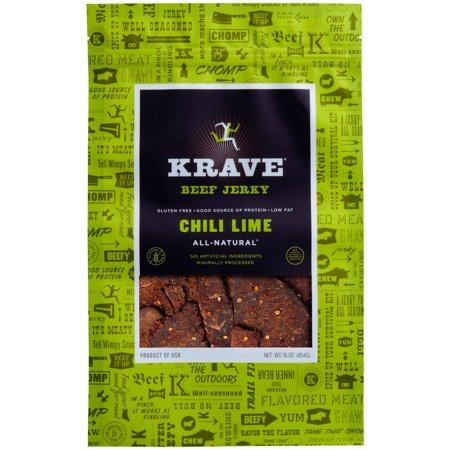 Krave Beef Jerky Chili Lime  16 Oz   Online Only