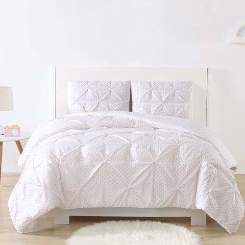 Harriet Bee Dunson Kids Dot Pinch Pleat Comforter Set