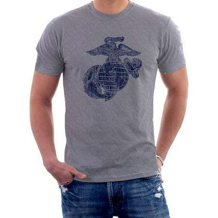 Black Ink Design US Marines USMC Classic Eagle, Globe, & Anchor Men's T-Shirt Black Ink Usmc Bulldog