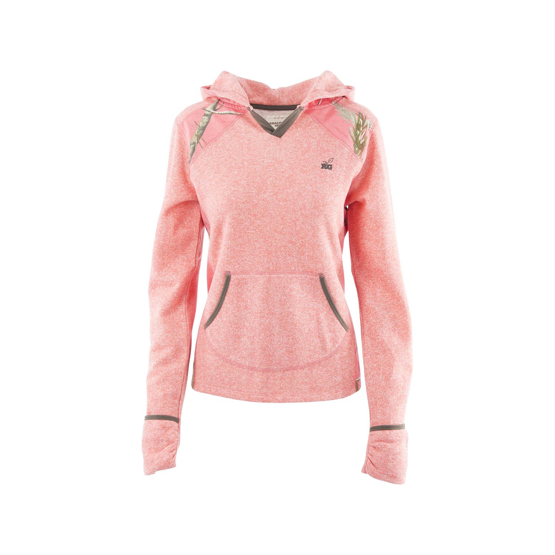 Realtree Girl Womens Rtg Mozelle Sweatshirt, Heather Suga...