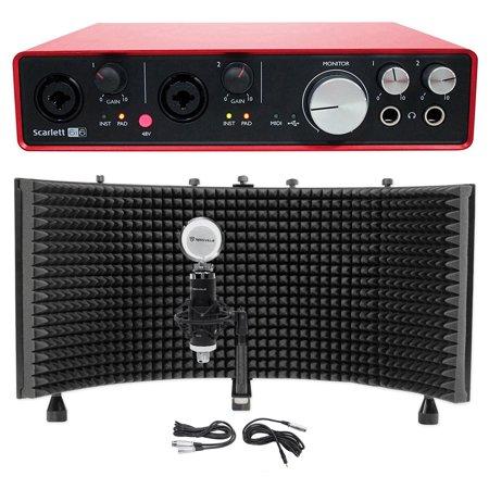 Focusrite SCARLETT 6I6 2ndGen USB Audio Recording Interface+Condenser