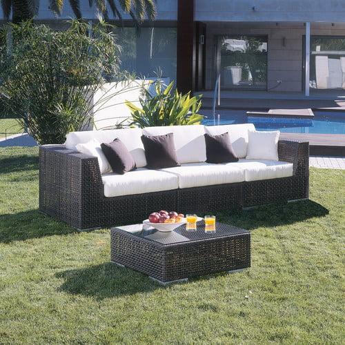Hospitality Rattan Soho 3 Piece Deep Seating Group with Cushions