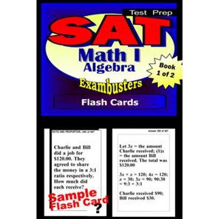 SAT Math Level I Test Prep Review--Exambusters Algebra Flash  Cards--Workbook 1 of 2 - 4 1 - eBook