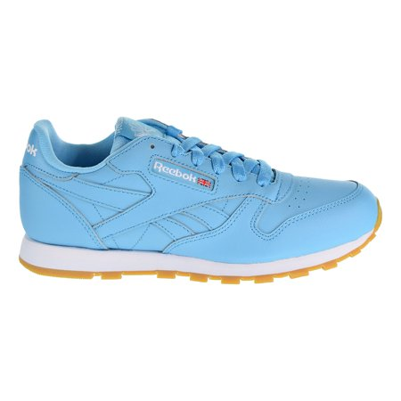 1ca2c38914f Reebok - Reebok Classic Leather Gum Boys Shoes Crisp Blue White Gum cn4095  - Walmart.com