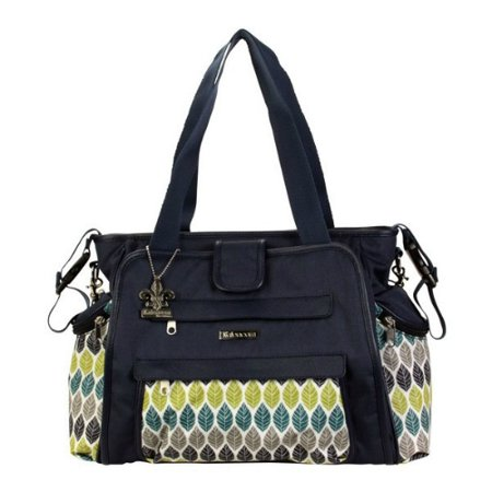 - Kalencom Quilted Nylon Nola Tote Navy Feathers Diaper Bag