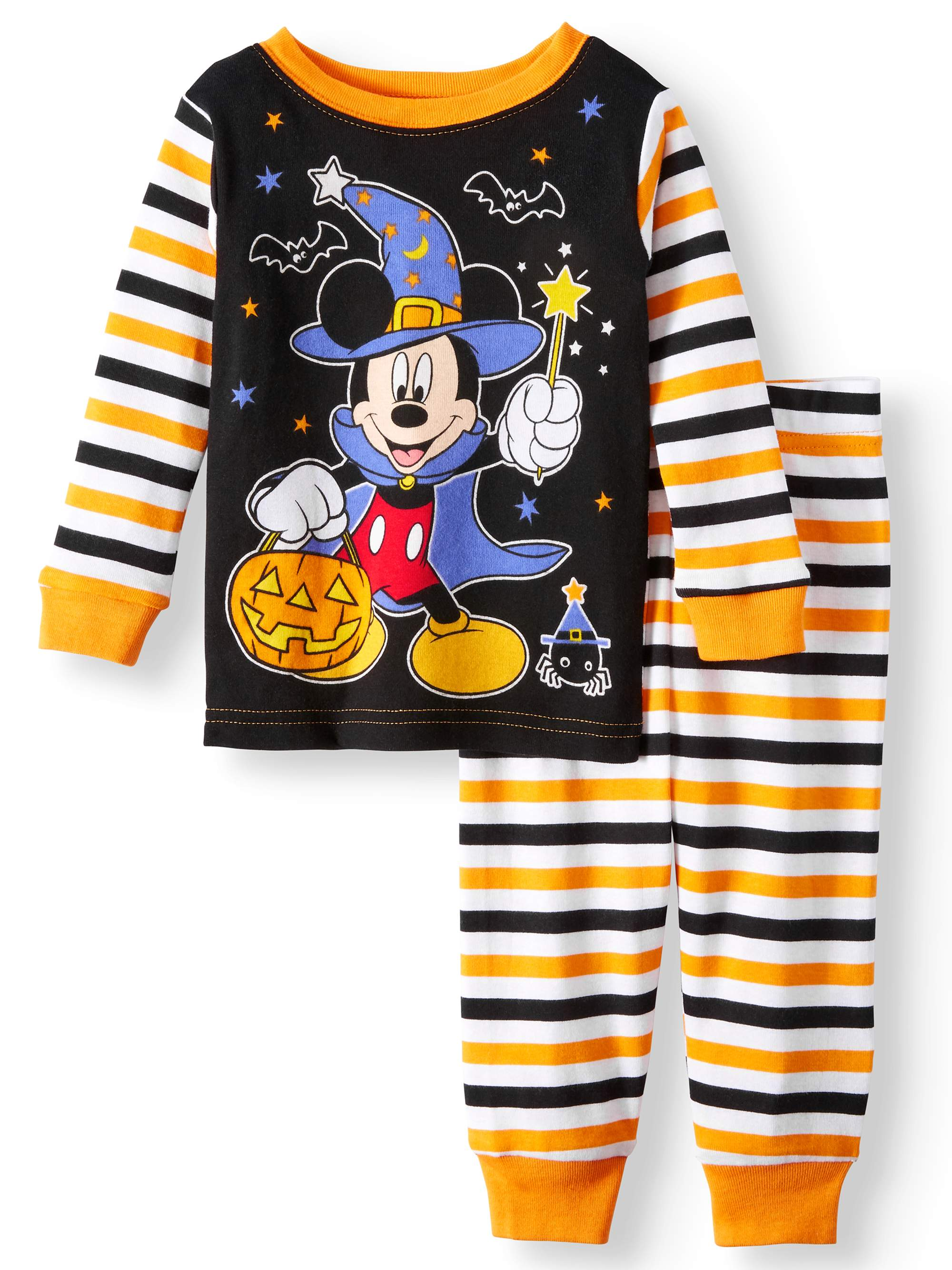 Halloween Glow-in-the-Dark Cotton Tight Fit Pajamas, 2-piece Set (Baby Boys)