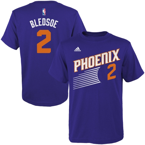 Eric Bledsoe Phoenix Suns adidas Youth Game Time Flat Name & Number T-Shirt - Purple