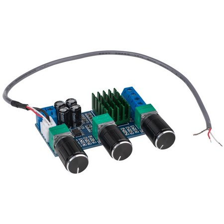 Parts Express 320-618 TPS3116D2 Class D Stereo Amplifier Board 2 x 50W with Volume and Tone