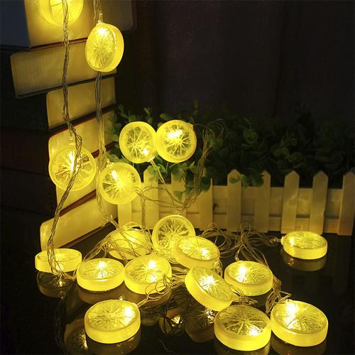 Home Decoration Christmas Led String Lights,LED Lemon Slices String Light  Christmas led Lights for Bedroom Garden Parties Wedding Outdoor