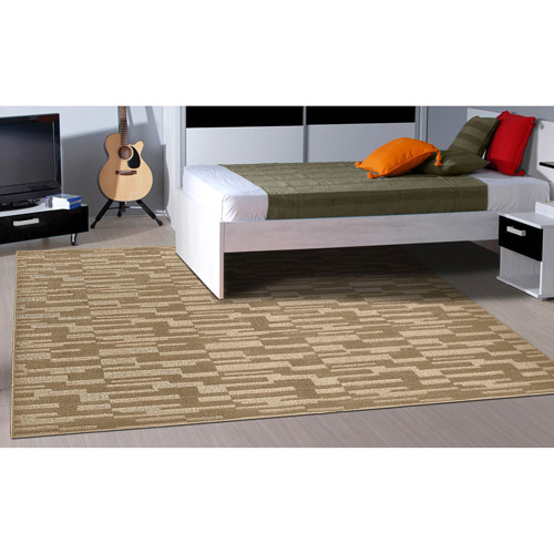 Garland Pixel Patterned Woven Olefin Area Rug by Generic