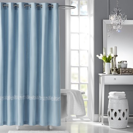 Hotel Style Fresca Embroidered Fabric Shower Curtain
