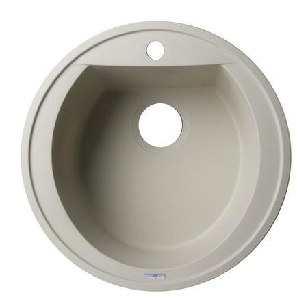 Drop In Kitchen Sink Biscuit (Drop-In Round Granite Composite Kitchen Prep Sink in)