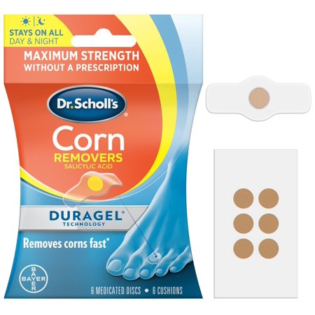 Dr. Scholl's CORN Removers with Duragel Technology, 6ct (One (Treatment For Soft Corn In Between Toes)