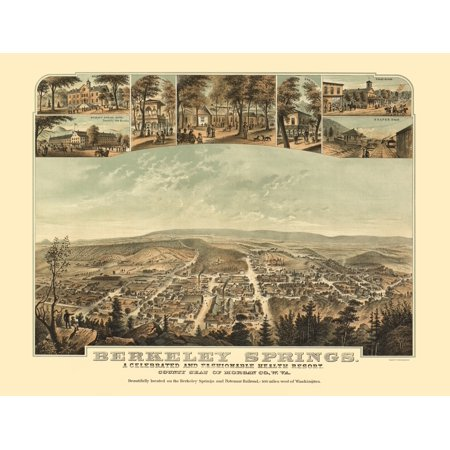 Berkeley Springs West Virginia - Hoen 1889 - 23 x (Herbs Auto Sales Berkeley Springs West Virginia)