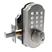 TURBOLOCK TL114 Keyless Door Lock with Keypad and Voice Prompts | Digital Deadbolt Smart Lock w/ Commercial-Grade Zinc Alloy & Easy Installation | Backup Micro-USB Port, 3 Backup Keys (IP65)