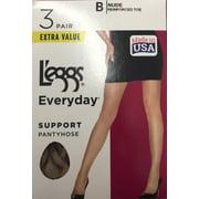 Hanes L'eggs Women's Everyday Control Top Pantyhose, 3 Pair