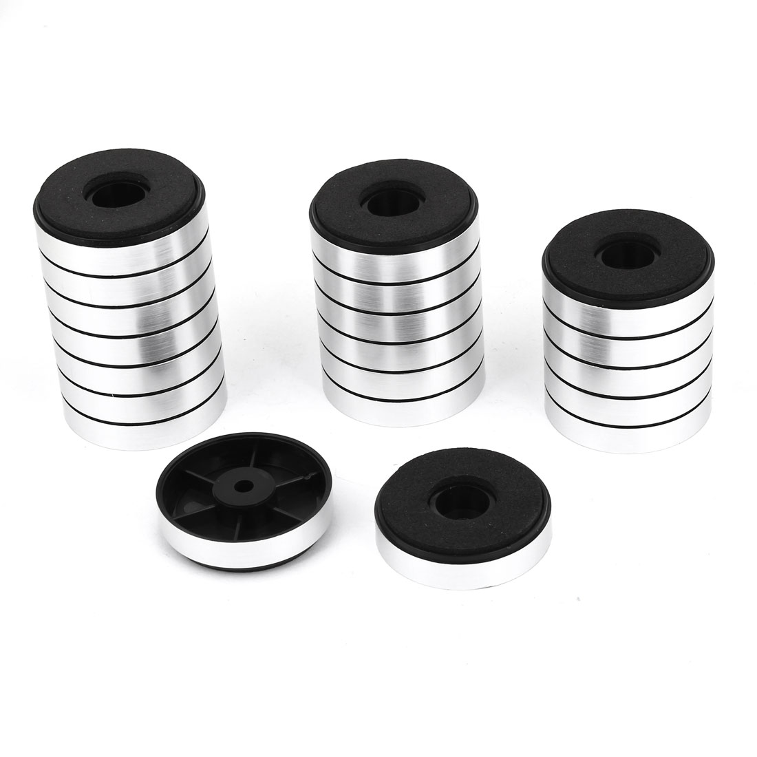 Unique Bargains 40mm x 10mm CD Player Speaker DAC Ammeter Feet Pad Stand Silver Tone 20 Pcs for Home Essential